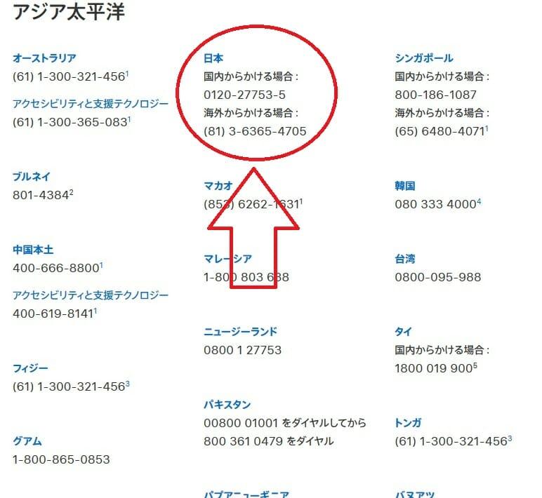 Appleサポートの日本にお住いの方用のお問い合わせ電話番号