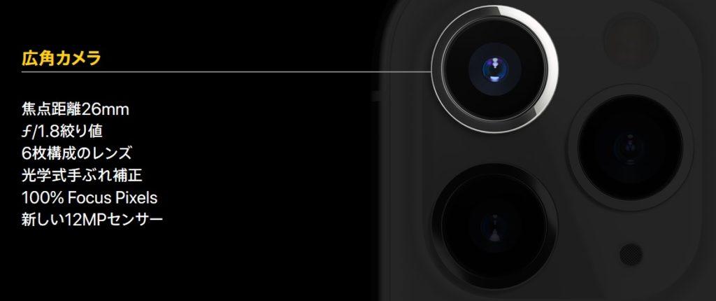 広角カメラ